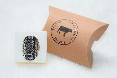 Sterling Silver Enchanted Shield Ring - Size 7