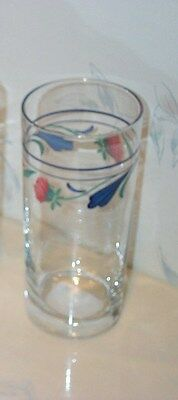 NEW Lenox POPPIES ON BLUE 16 oz. Glass Tumblers (MULTI AVAIL) Glasses BRAND NEW