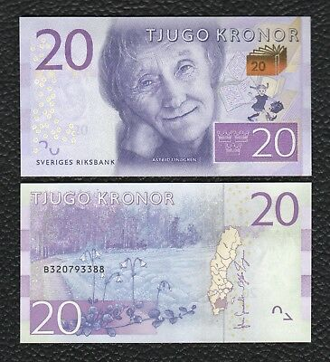 Sweden P-69 ND(2015) 20 Kronor- Crisp Uncirculated