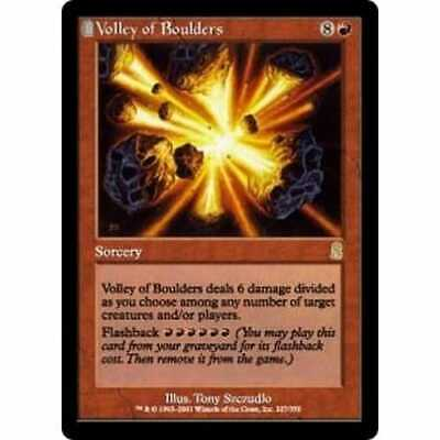 MTG ODYSSEY * Volley of Boulders (foil) - Condition: Mint / Near Mint