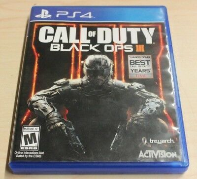 Call of Duty: Black Ops III (SONY PlayStation 4,2015) No Manual Free Shipping