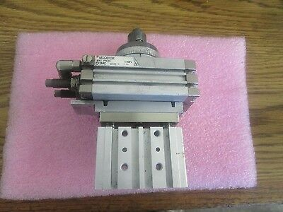 SMC Pneumatics Model: MSQB10R Rotary Actuator with MGPM16-10 Compact Guide <