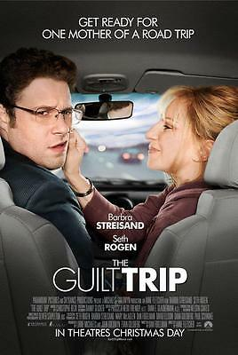 THE GUILT TRIP ORIGINAL 27x40 MOVIE POSTER (2012) STREISAND & ROGEN