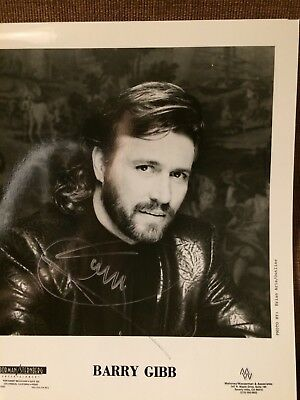 """BARRY GIBB Of The Bee Gees SIGNED AUTOGRAPH 10"""" x 8"""" Photograph"""