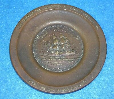 USS CONSTITUTION 1927 Restoration RELIC BRONZE PIN TRAY Paul Revere OLD IRONSIDE