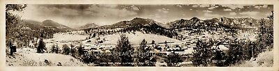 """1940 Estes Park from Clatworthy Point Vintage Panoramic Photograph 27"""" Panorama"""