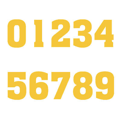 Yellow Adult Jersey Number Vinyl Heat Transfer Iron-On DIY Sports T-Shirts Parts