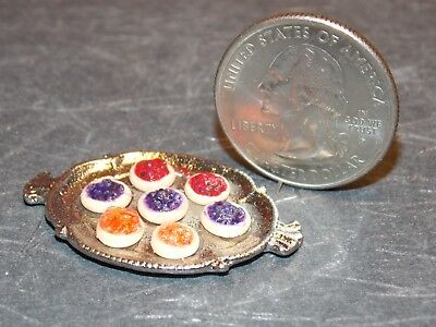 Dollhouse Miniature Christmas Cookies White Trees Stars E24A 1:12 Dollys Gallery