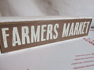 Farmers Market VintAge style WOOD WOODEN SIGN farmers Kithen HOME DECORATIVE