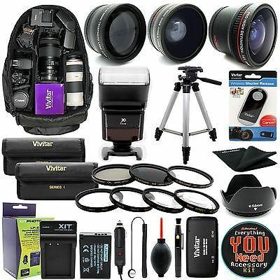 Canon Eos Rebel T6i T6s/750D 760d DSLR Caméra Everything You Need Kit Accessoire