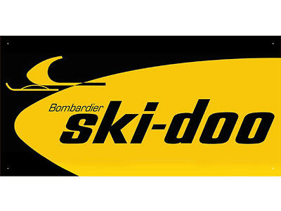 vn0866 Black & Yellow Ski Doo Sales Service Parts for Display Banner Sign