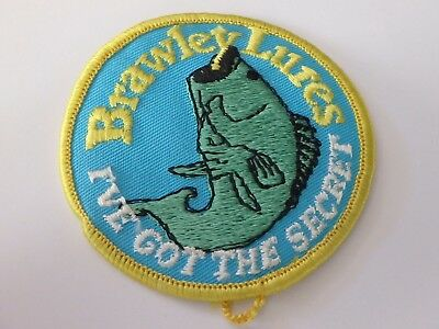 Brawley Fishing Lures Tackle Patch Excellent Condition 3""