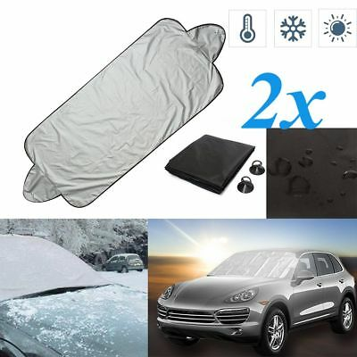 2x Universal Windscreen Windshield Car Frost Cover Protector Screen Ice Protecti