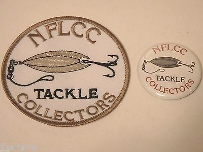 Vintage NFLCC Fishing Lures Metal Lure Patch & Pin / Button