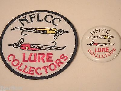 Vintage NFLCC Fishing Lures Old Lures Patch & Pin / Button