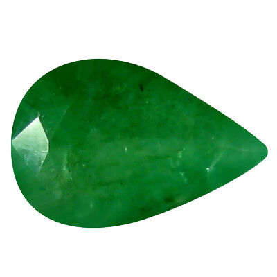0.30 ct Pear (6 x 4 mm) Unheated Green Colombian Emerald Natural Loose Gemstone