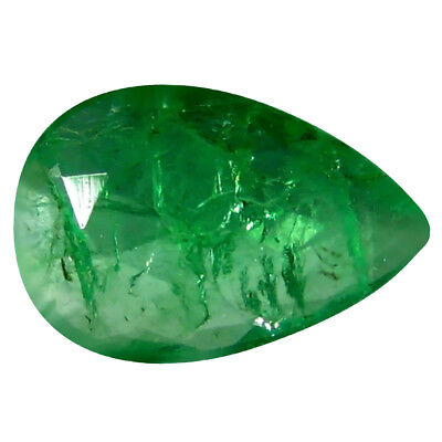 0.23 ct Pear (6 x 4 mm) Unheated Green Colombian Emerald Natural Loose Gemstone
