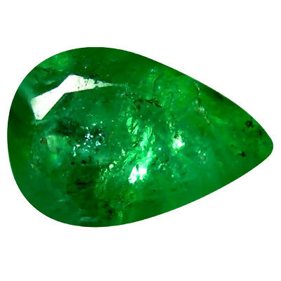 0.41 ct Pear (6 x 4 mm) Unheated Green Colombian Emerald Natural Loose Gemstone