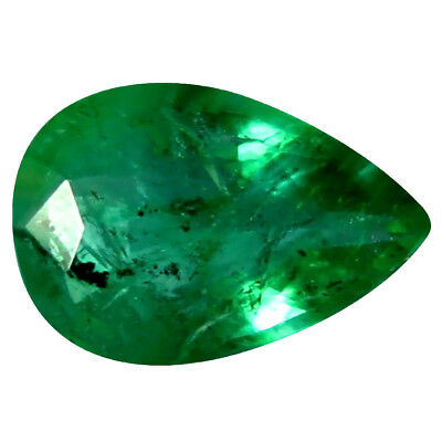 0.31 ct Pear (6 x 4 mm) Unheated Green Colombian Emerald Natural Loose Gemstone