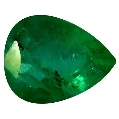 0.37 ct Pear (5 x 4 mm) Unheated Green Colombian Emerald Natural Loose Gemstone