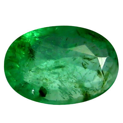0.32 ct Oval (6 x 4 mm) Unheated Green Colombian Emerald Natural Loose Gemstone