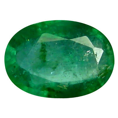 0.37 ct Oval (6 x 4 mm) Unheated Green Colombian Emerald Natural Loose Gemstone