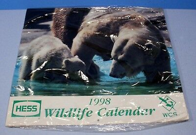 Hess Gasoline 1998 Collectible Wildlife Calendar *New*