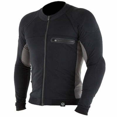 Knox Action MKI Armoured Motorcycle Motorbike Mesh Under Shirt - Black/Grey