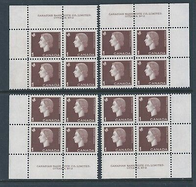 Canada #401 PL BL #2 Queen Elizabeth II Matched Set Plate Block MNH