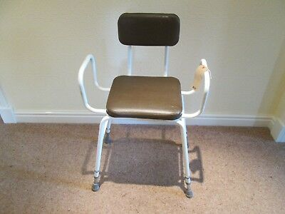 1674  Fully Adjustable Perching Stool / Shower Chair Used