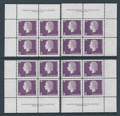 Canada #403 PL BL #1 Queen Elizabeth II Matched Set Plate Block MNH