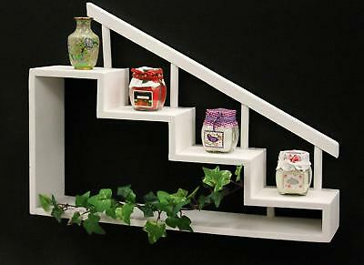 Seed Box 12269 Stairs 45 cm Wall Shelf Collectors Showcase Display Case Rack