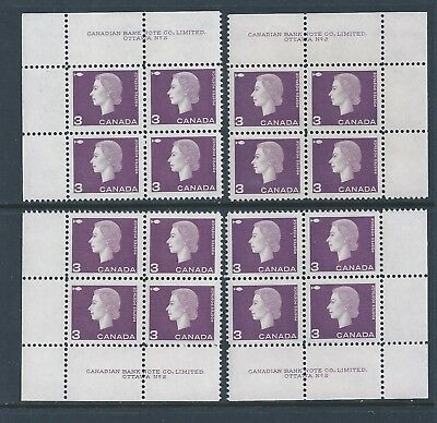 Canada #403 PL BL #2 Queen Elizabeth II Matched Set Plate Block MNH