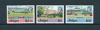 Barbuda 281-3 MNH, Top Values of the 1977 Definitive Set