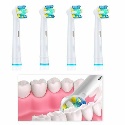 4 New Oral Floss Action B Compatible Electric Toothbrush Replacement Brush Heads