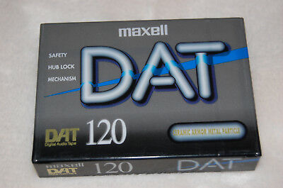 Maxell DAT DM 120 Digital Audio Tape new, Made in Japan