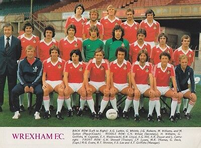 Wrexham Football Team Photo>1977-78 Season