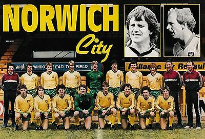 Norwich City Football Team Photo 1982-83 Season