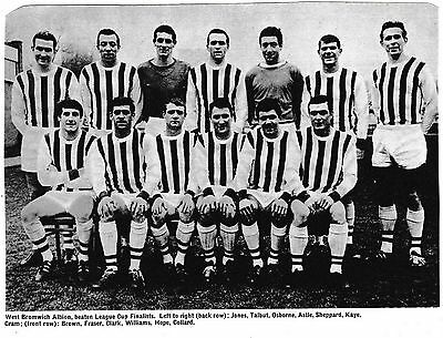 West Bromwich Albion Football Team Photo 1966-67 Season