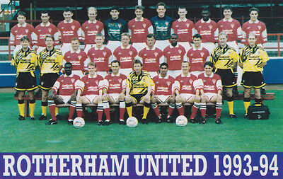 Rotherham United Football Team Photo>1993-94 Season