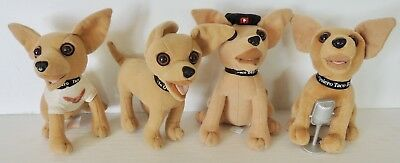 Taco Bell Chihuahua Plush Dog Dolls - Set Of 4 - Only One Working