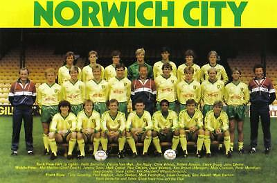 Norwich City Football Team Photo>1984-85 Season