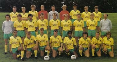 Norwich City Football Team Photo>1985-86 Season