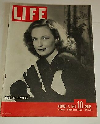 August 7, 1944 LIFE Magazine Old ads Graphics advertising FREE SHIPPING Aug 8