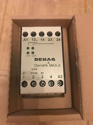 Demag MKA-2 Dematic Evaluator Unit 469 553 44 42v-48vac 180202