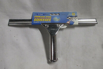 Ettore Glass Window Stainless Steel Squeegee 12 Inch - NEW