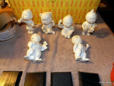 4 inch Japanese Clay Bell Dorei Gosho-Ningyo Court Style Ceramic Dolls Japan