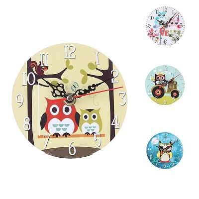 Creative European Style Round Antique Wooden Home Wall Clock