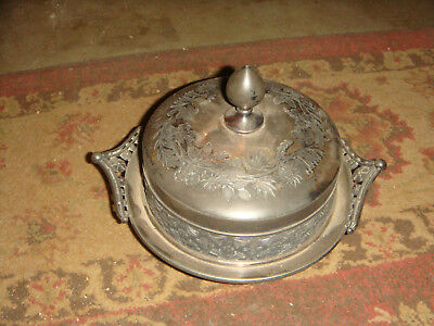 Antique Victorian Meriden B. Company LIDDED DISH - Silverplated Ornate - 1800's?
