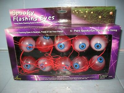 Set Of 10 Halloween Spooky Flashing EyeBall String Lights